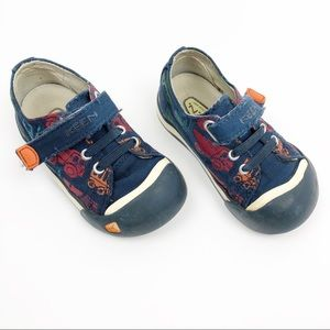 Keen Velcro Strap Shoes Cars Blue Red Size 7